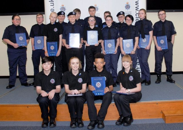 Young Hartlepool police cadets honoured at awards ceremony