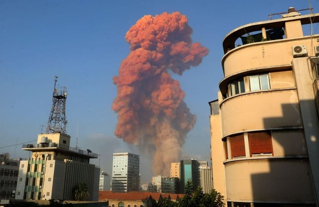 An explosion which shook the Lebanon capital is said to have been caused by ammonium nitrate (Getty Images)
