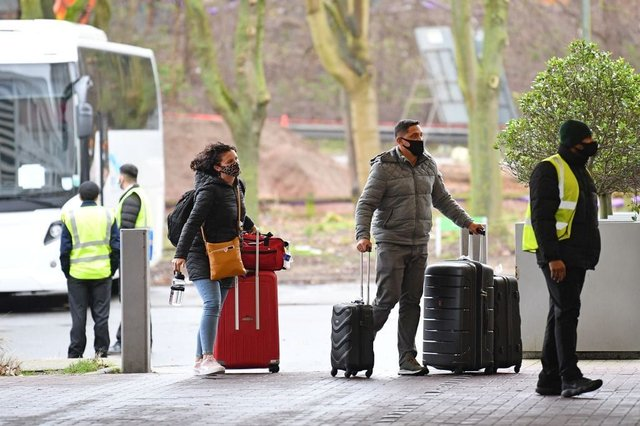 Only UK nationals may travel from 'red list' countries, and are subject to mandatory quarantine (Photo: JUSTIN TALLIS/AFP via Getty Images)