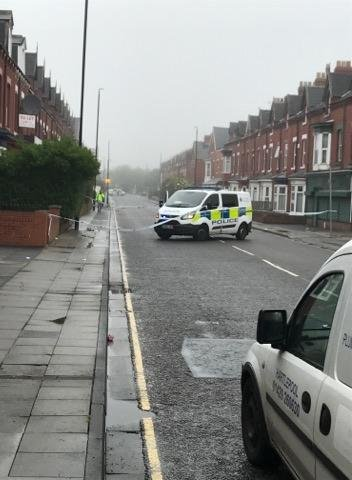 Police on the scene in York Road.