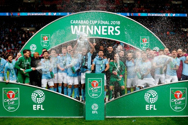 Manchester City beat Chelsea in last season's Carabao Cup final.