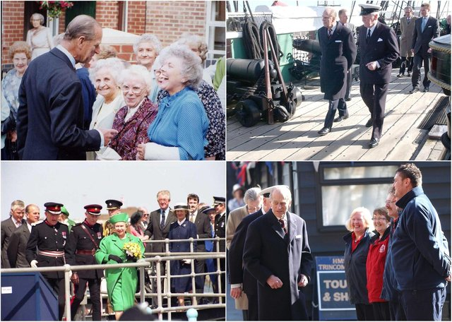 Take a look at our collection of reminders from the Duke of Edinburgh's visits to the area.