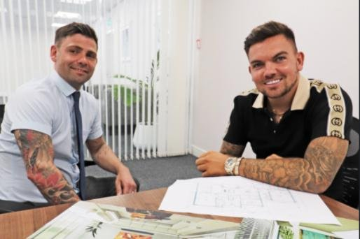 Sam Gowland (right) and Rob Collier (left). Mr Gowland is building luxury properties near Hartlepool.