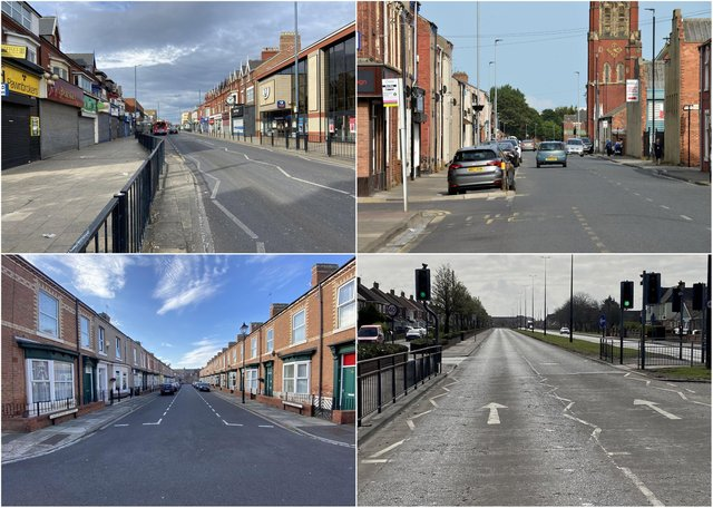Some of the Hartlepool locations where most crime is reported to be taking place, according to official figures.