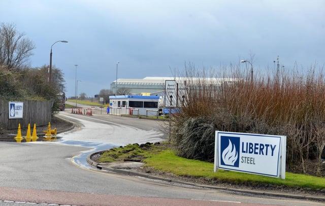 Liberty Steel's site, in Brenda Road, Hartlepool.