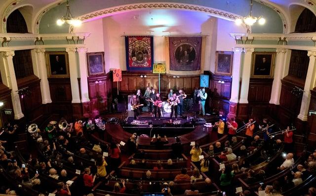 DENNIS performing at Pitman's Parliament. Photo by David Gunton.