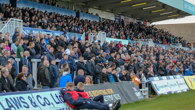 Hartlepool United fans at Victoria Park.
