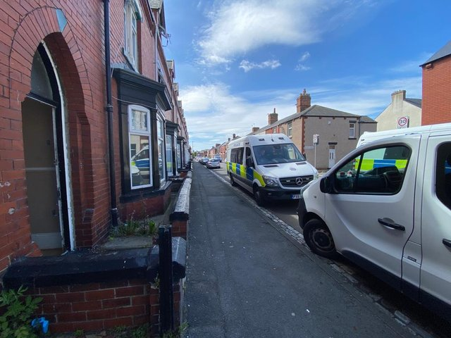 Police discovered a 'substantial' cannabis farm in Mulgrave Road in Hartlepool.