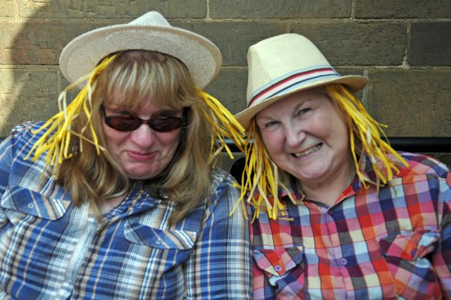 Brenda Kloed and Pamela Harding get into the farming theme of St Luke's Garden Party seven years ago. Does this bring back happy memories?
