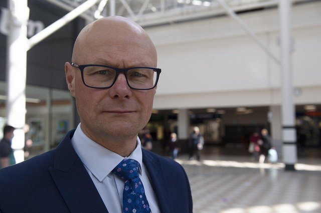 Middleton Grange Shopping centre manager Mark Rycraft and a store manager have praised the professionalism of shopping centre staff following an incident in which a young boy briefly stopped breathing