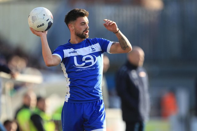 Macauley Southam-Hales  of Hartlepool United during the Vanarama National League match between Hartlepool United and Aldershot Town at Victoria Park, Hartlepool on Saturday 8th February 2020. (Credit: Mark Fletcher   MI News)