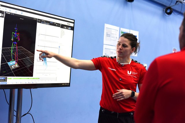Hartlepool-born boxing champion Savannah Marshall during her Sports Science course at Teesside University. Photo courtesy of Teesside University.
