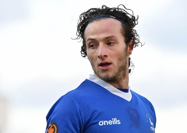 Jamie Sterry playing for Hartlepool United.