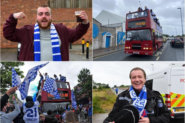 Fans turned out in their hundreds to pay tribute to Hartlepool United.