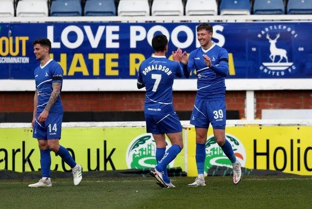 Richie Bennett has scored five goals in four appearances for Pools (Credit: Chris Booth   MI News)