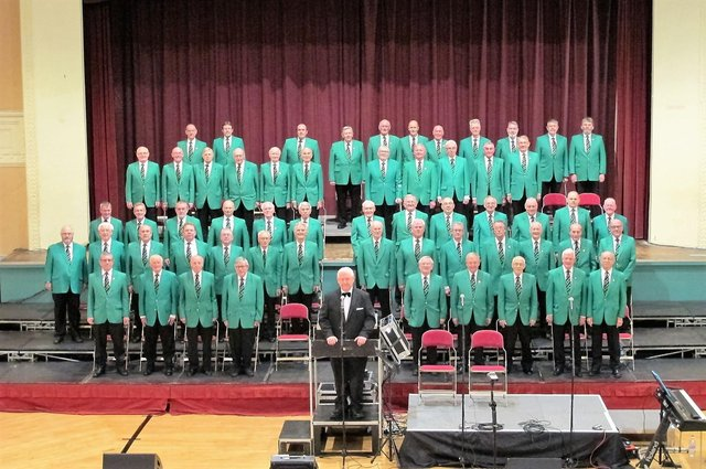 Hartlepool Male Voice Choir and musical director David Gibson (front).