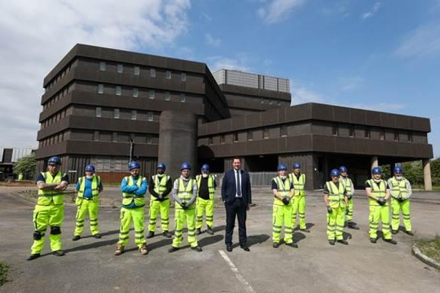 Tees Valley Mayor Ben Houchenwelcomed 15 new workers to Teesworks to the site on June 3.