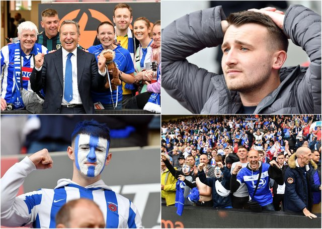 Just some of the images from a dramatic day at Bristol City's Ashton Gate ground as Hartlepool United gained promotion back to the Football League in Sunday's play-off final.