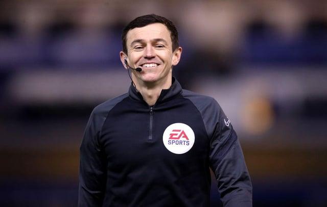 Hartlepool referee Tony Harrington.