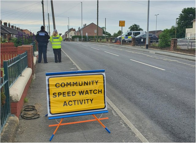 A community speed watch was launched in a bid to remind motorists to keep below the 30MPH restrictions.