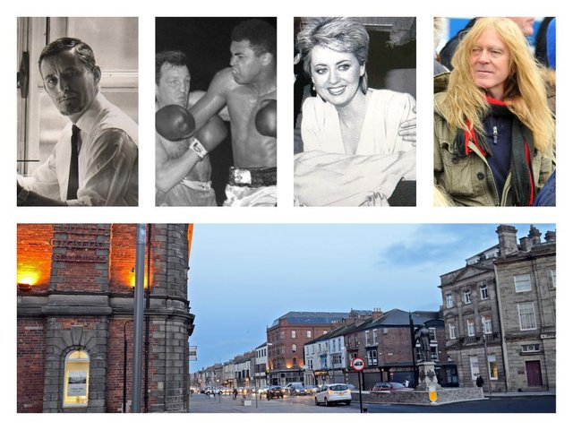 Famous Hartlepool people include, from left, Reg Smythe, Brian London (left of second picture), Wincey Willis and Janick Gers.