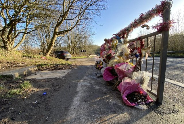 Scores of tributes were left to the girls following their tragic death in a collision between Blackhall Colliery and Horden last September.