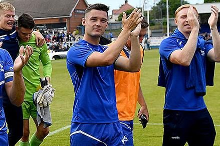 Luke Molyneux following Hartlepool United's 3-2 play-off win over Bromley. 06-06-20212. Picture by FRANK REID