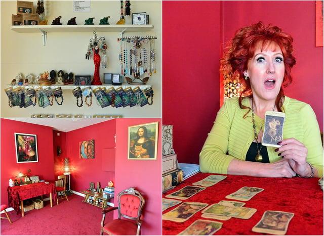 Jazz-singing Tarot reader Gina Pontoni has opened a 'witchy' shop in Seaton Carew.