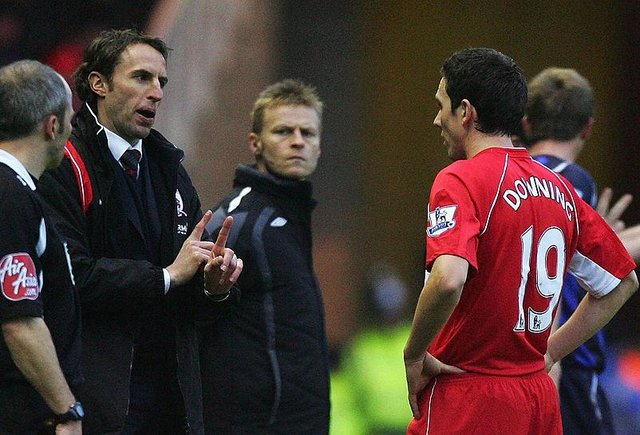 Gareth Southgate and Stewart Downing during their time together at Middlesbrough.