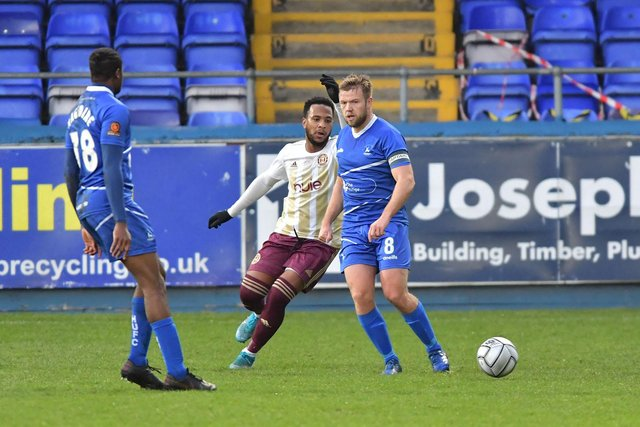 Nicky Featherstone in action against Halifax Town.