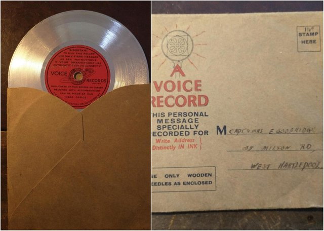 A Hartlepool man has found an old voice record addressed to a couple in his home town.