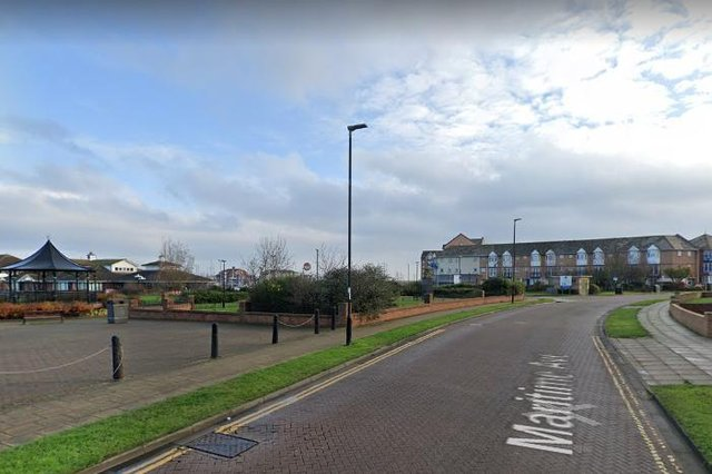 The incident happened in Hartlepool's Maritime Avenue. /Photo: Google