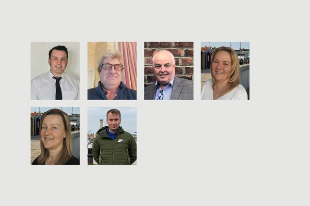 From left to right, candidates in the Seaton ward. Top row, Gordon Cranney, Martin Dunbar, Dave Hunter and Sue Little. Bottom row, Leisa Smith and Scott Standing. Stefan Morgan did not submit a photo.