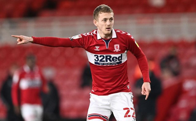George Saville playing for Middlesbrough.