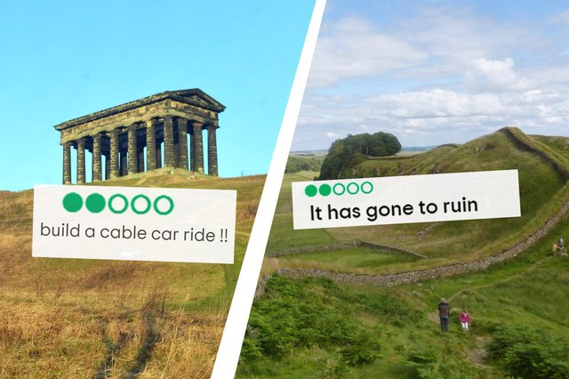 Not every reviewer on TripAdvisor was impressed with the North East's historic landmarks!