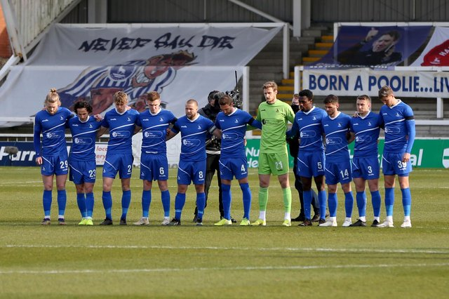 The Hartlepool United starting XI v Notts County at Victoria Park, Hartlepool on Saturday 10th April 2021. (Credit: Chris Booth | MI News)