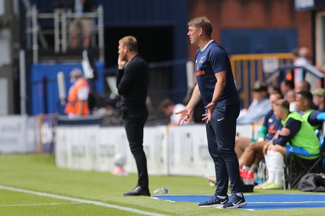Dave Challinor  during the Vanarama National League match between Stockport County and Hartlepool United at the Edgeley Park Stadium, Stockport on Sunday 13th June 2021. (Credit: Mark Fletcher | MI News)
