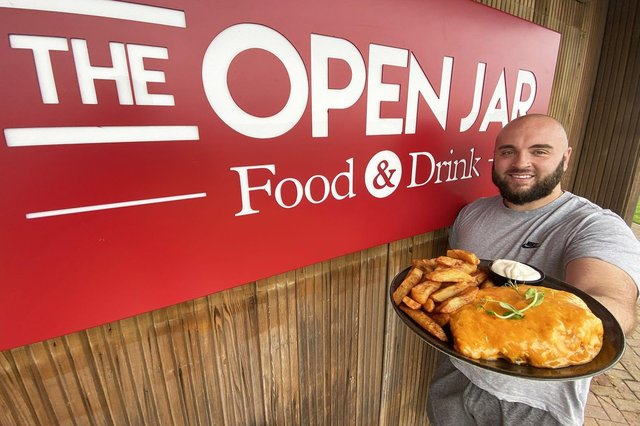 Joe Franks owner of The Open Jar is giving away free Parmos after England's defeat in the football. Picture by FRANK REID