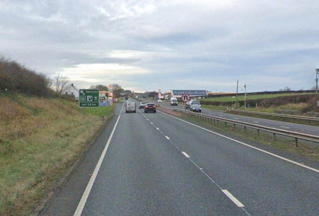 The collision happened on a section of the A19 near the OK Diner. Image copyright of Google.