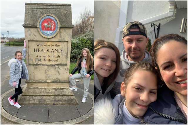 The Watson family walked from Peterlee to the Headland to raise money for charity.