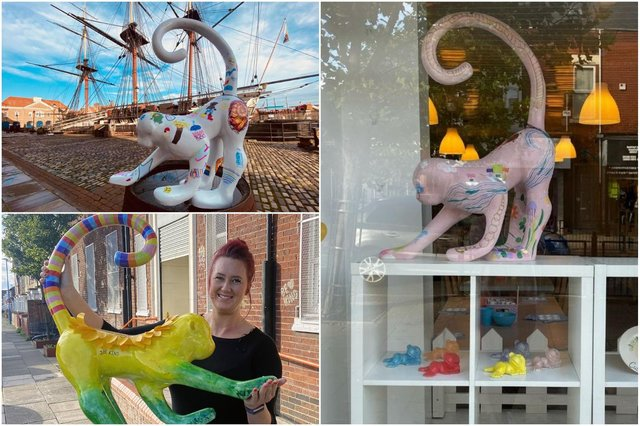Some of the monkeys on display around Hartlepool for the art festival.