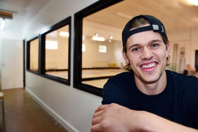 Zac Healey inside his new dance studio.