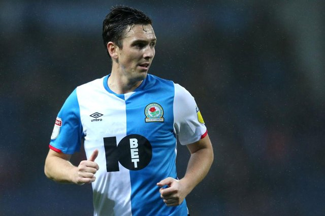 Stewart Downing playing for Blackburn Rovers.