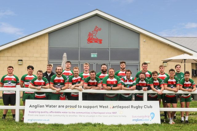 Rugby players at West Hartlepool