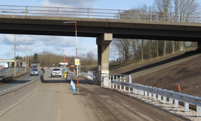 The stretch of the A19 where the work has been carried out.