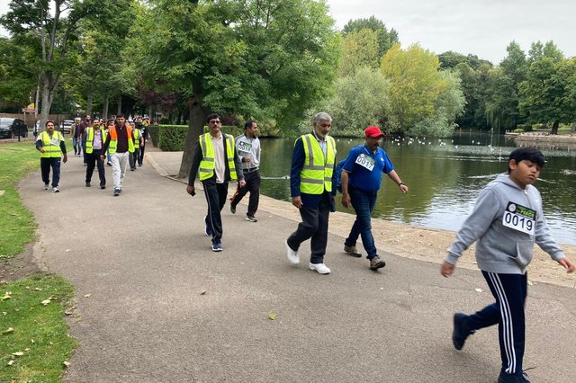 Around 90 people took part in the charity Walk of Peace in Ward Jackson Park.