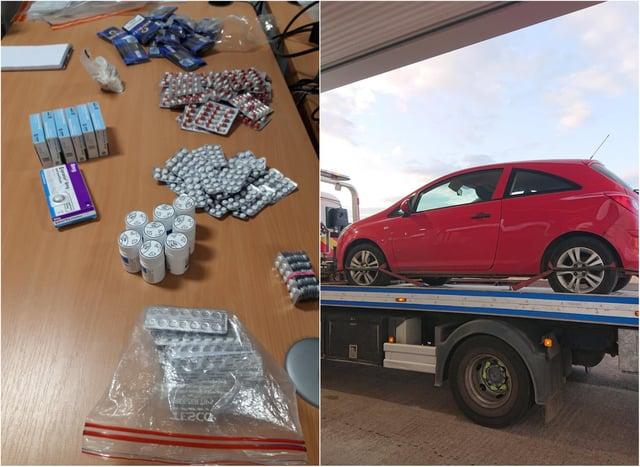 Drugs and vehicle were seized in Hartlepool. Photo: Hartlepool Neighbourhood Police Team