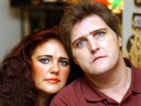 Carol Grayson and her late husband Peter Longstaff.