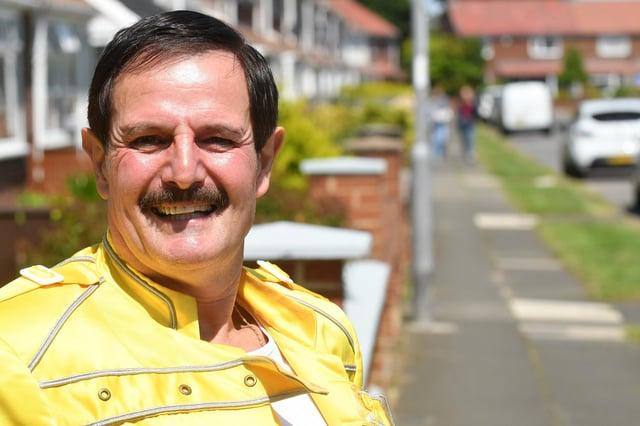 Freddie Mercury impersonator Billy West. Picture by FRANK REID