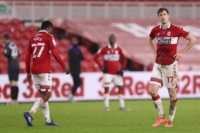 Marc Bola Paddy McNair of Middlesbrough.